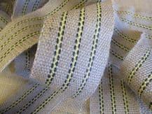 STRONG Yellow stripe jute upholstery webbing 400cm long seat seating 7cm 14lb